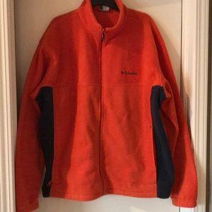 Men's Orange and gray Columbia fleece